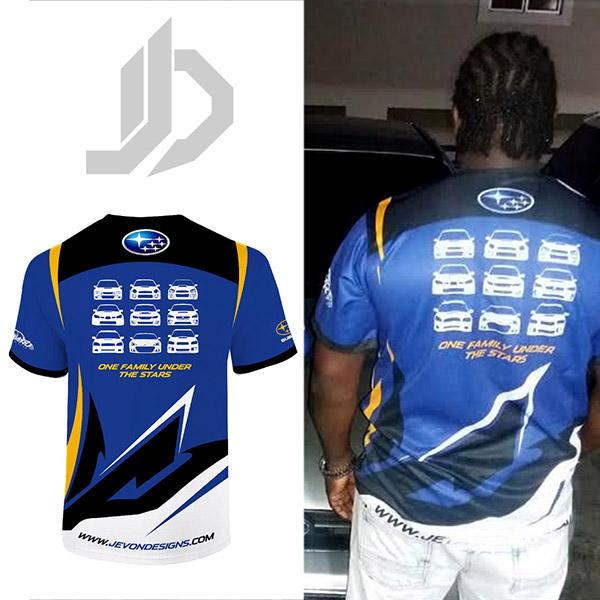 Subaru Owners Club Shirt Back